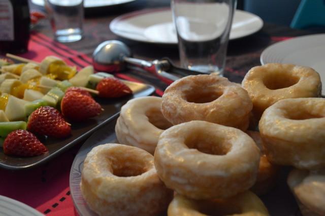 Donuts de azúcar para brunch