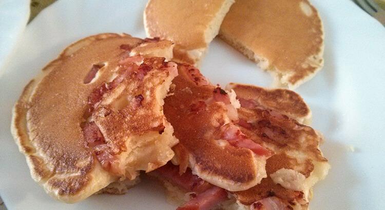 Receta de pancakes con bacon