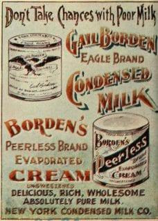 Anuncio de leche condensada, 1898